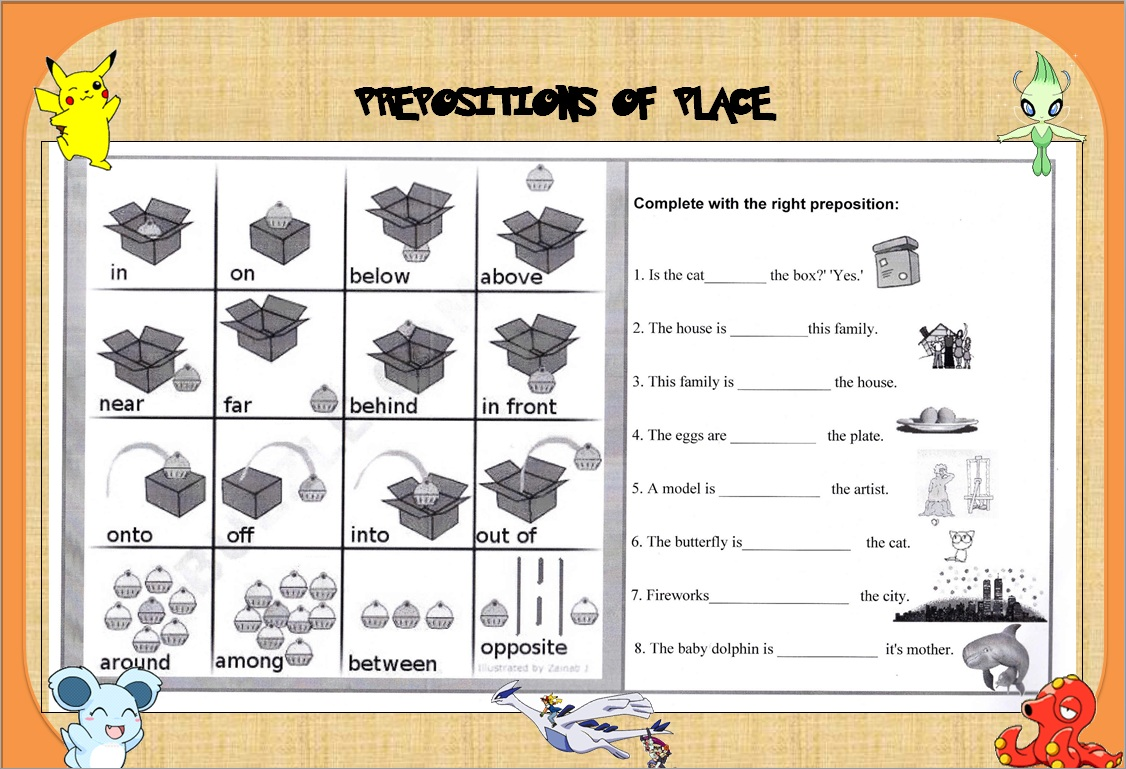 Worksheet To Practise Prepositions Of Time In On At B