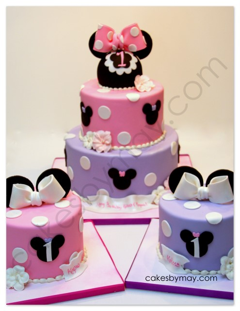 Cakes By Maylene Minnie Mouse Twins Birthday Cake