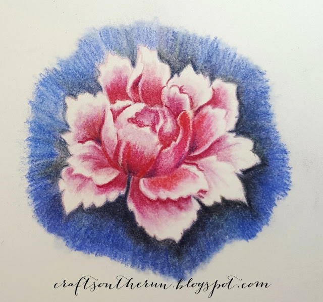 ALTENEW PEONY BOUQUET, PRISMACOLOR PENCILS