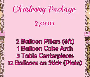 Christening Package 2,000
