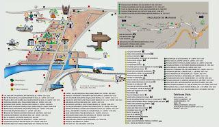 Mapa turístico do centro histórico de Mariana/MG.