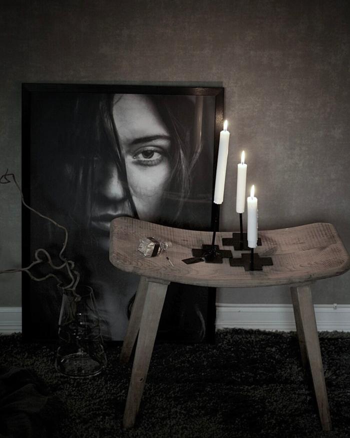annelies design, webbutik, webbutiker, webshop, candle cross, ljusstake, ljusstakar, modellbild, woman hair,