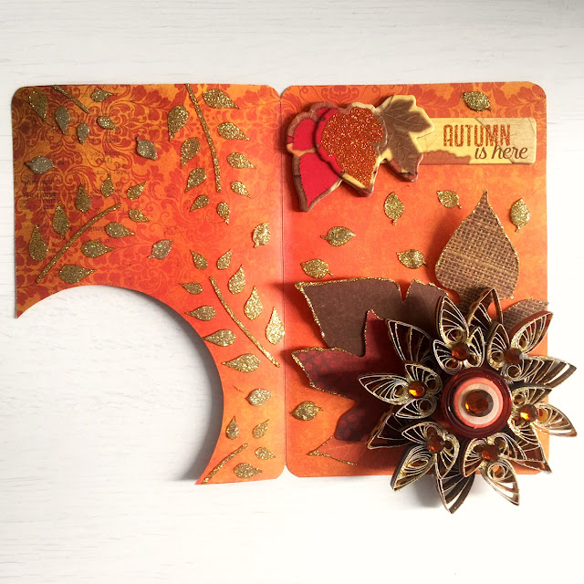 Fall In Love Card by Ombretta Fusco using BoBunny Farmers Market
