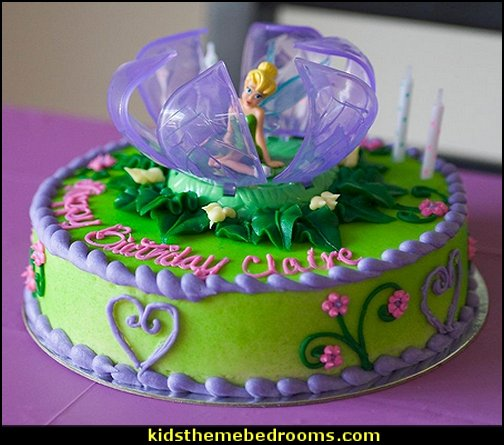 Disney Fairies Tinker Bell in Flower Decoset   tinkerbell party supplies - Tinkerbell party decorations - Disney fairies party supplies - party themes fairies -  tinkerbell peter pan party supplies - tinkerbell costume -