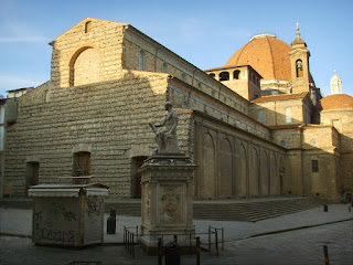 The Basilica di San Lorenzo, where Ferdinando II is buried, is one of Florence's largest churches