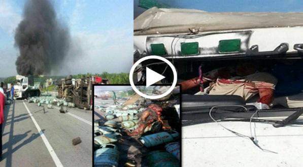 VIDEO: NGERI ! Kemalangan 3 Biji Lori Di Klang, Ada Yg Terkena Bahan Kimia Sampai Jadi ...