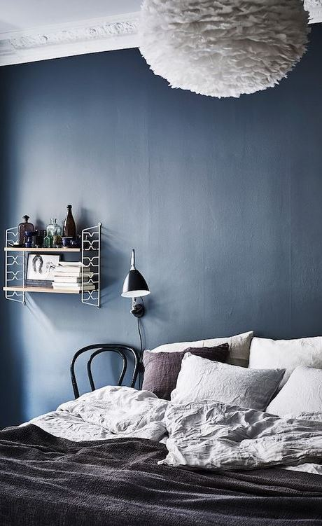 blue bedroom decor idea