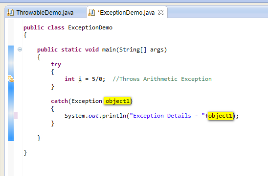 How to write custom exception class java