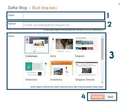 Cara Mudah Dan Gratis Untuk Membuat Sebuah Blog di Blogger