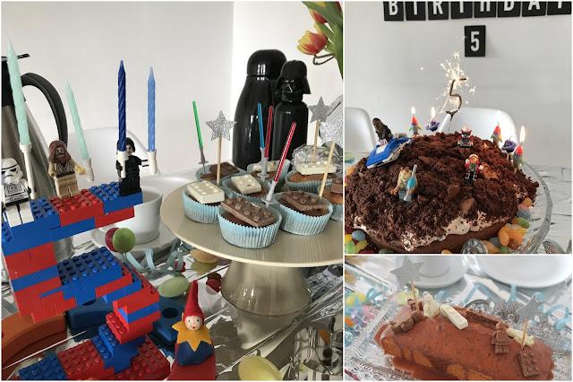 Muffins Nusskuchen Lichtschwerter Weltraum Kuchen Planeten Sonnensystem Star Wars DIY Weltraum Geburtstag Ideen Kindergeburtstag LEGO Star Wars Deko Planeten Essen Spiele Geschenke Jules kleines Freudenhaus