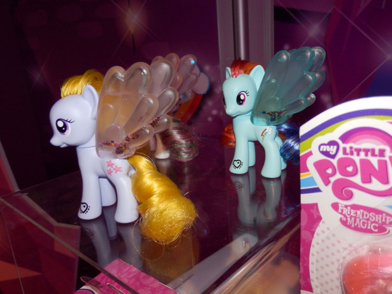 Rainbow Dash, Blossomforth and Lily Blossom Water Cuties at NY Toy Fair 2015