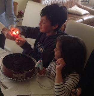 Felicidades a mis peques! Para celebrarlo Tarta de OREO!