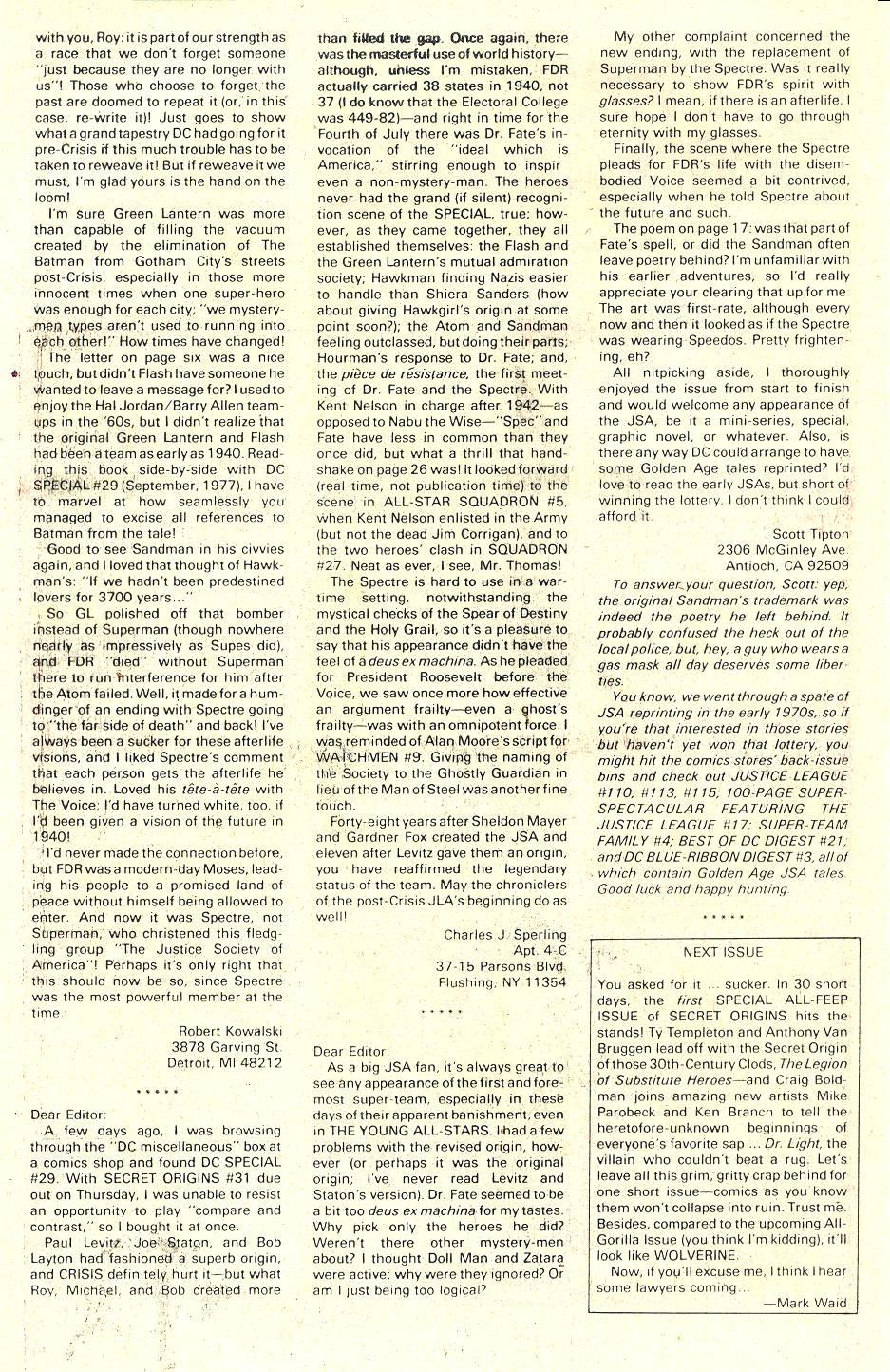 Read online Secret Origins (1986) comic -  Issue #36 - 42