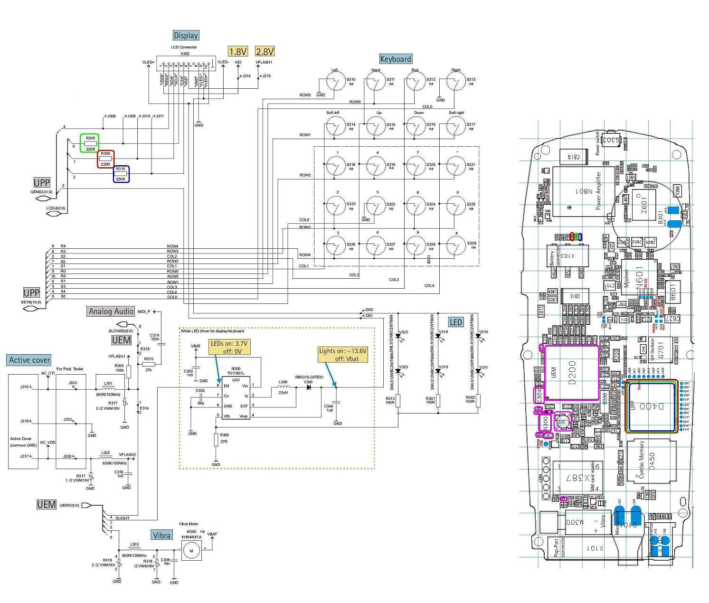 nokia c1 01 display light circuit diagram