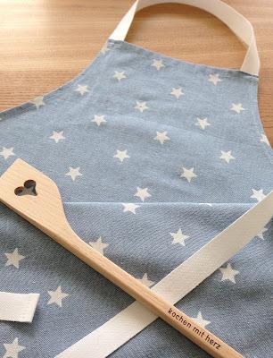 mit Strich und Faden: Kinderschürze Sterne | Kochen mit Herz