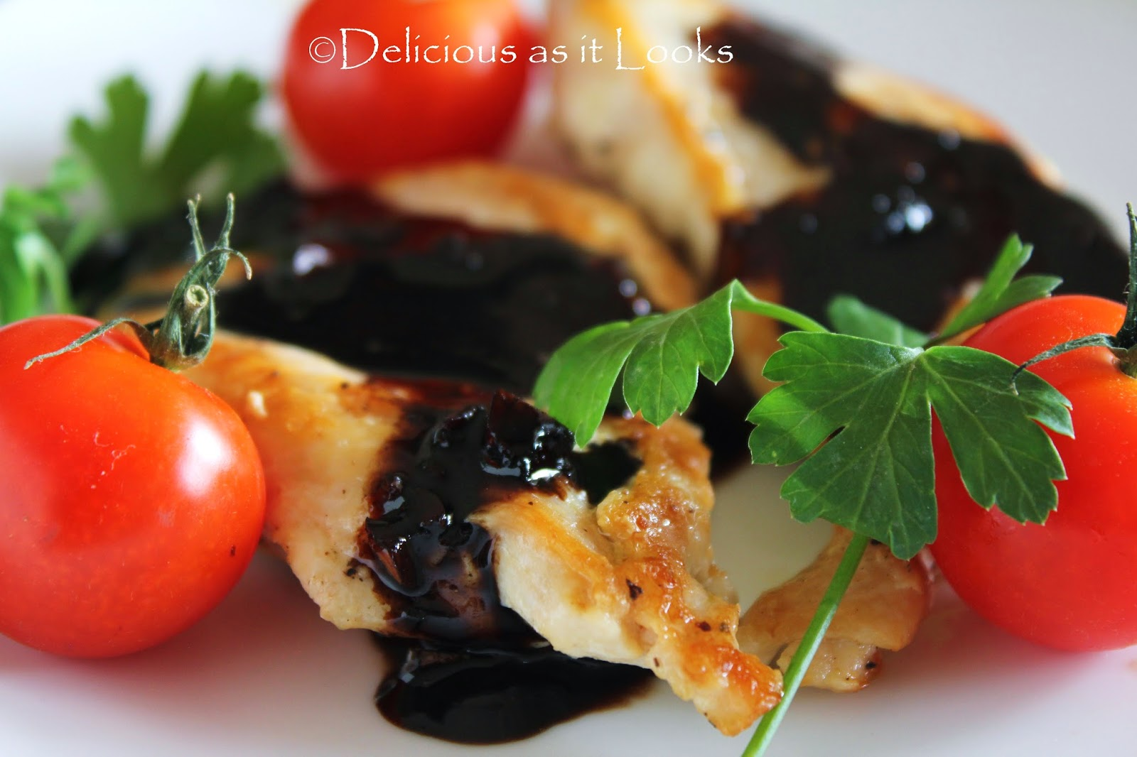 Easy & Elegant Chicken with Balsamic Sauce |  Delicious as it Looks