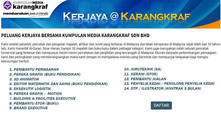 Jawatan Kosong di Kumpulan Media Karangkraf
