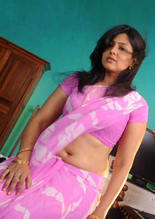 Beauty Galore Hd  Sheryl Pinto Hot Photos In Pink Saree-2823