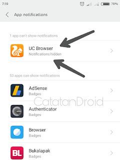 Cara Menyembunyikan Notifikasi UC Browser Yang Membandel