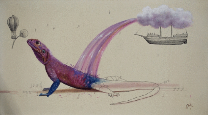 08-Rainbow-Lizard-Ricardo-Solis-Surreal-Illustrations-of-Animals-in-Mid-Construction-www-designstack-co