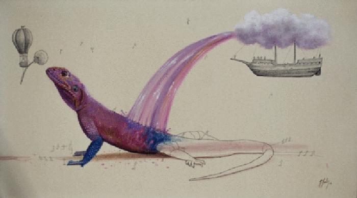 08-Rainbow-Lizard-Ricardo-Solis-Surreal-Illustrations-of-Animals-in-Mid-Construction-www-designstack-co