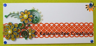 kalanirmitee: paper quilling-quilled flowers-envelope