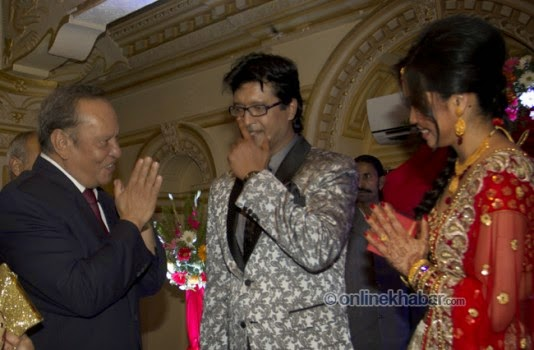 rajesh hamal and madhu bhattarai wedding, nir shah