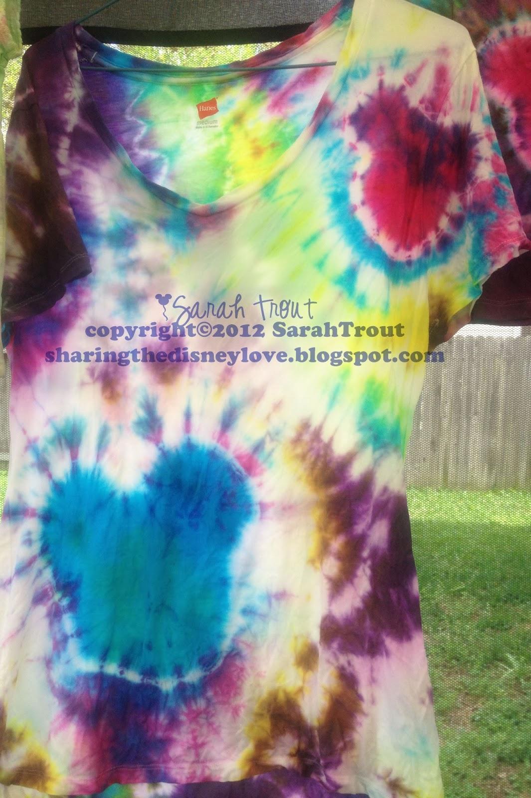 Sharing The Love Tie Dye Mickey Shirts