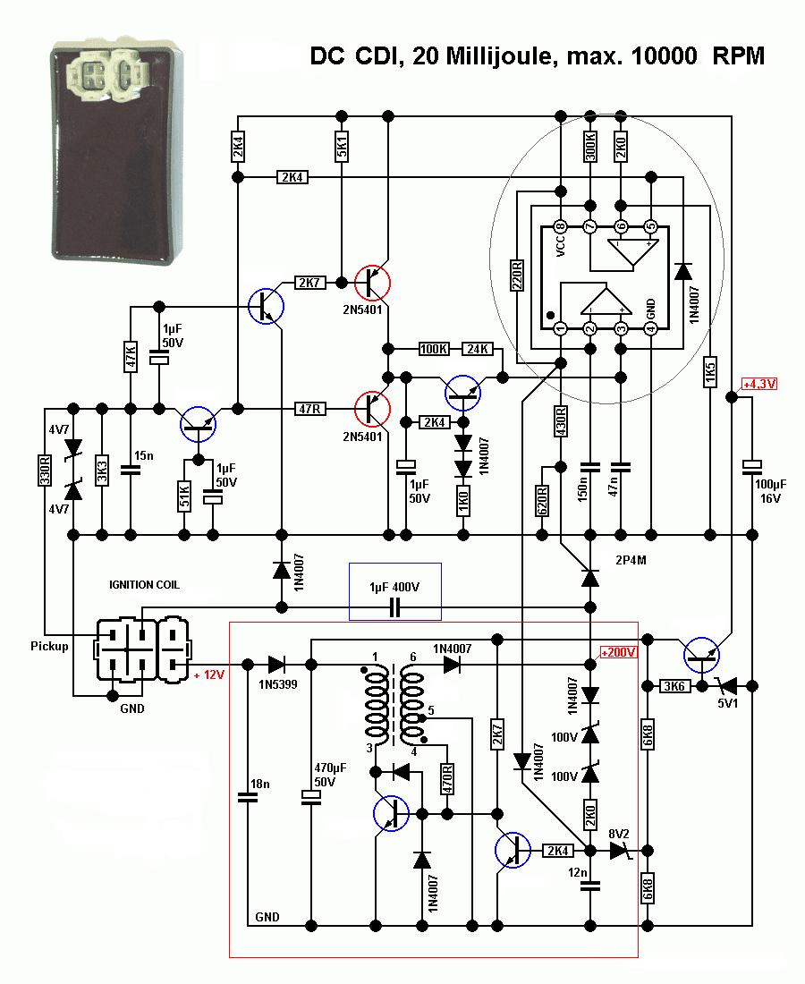 dc 6 wire cdi box diagram