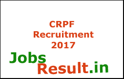 CRPF Recruitment 2017