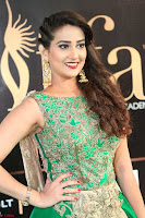 Manjusha in Beautiful Sleeveless Green Anarkali dress at IIFA Utsavam Awards 93.JPG
