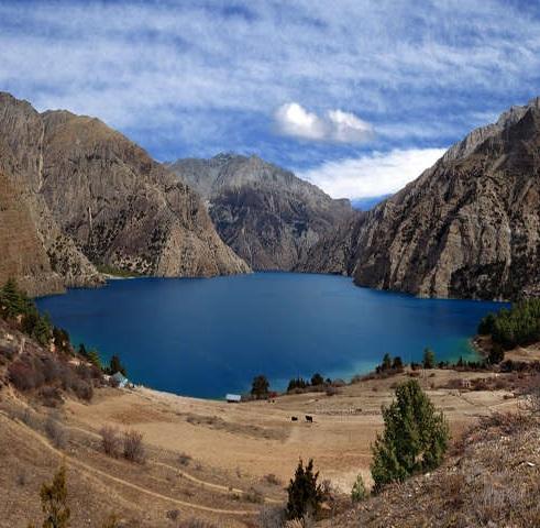 Route to Shey Phoksundo-- Phoksundo lake