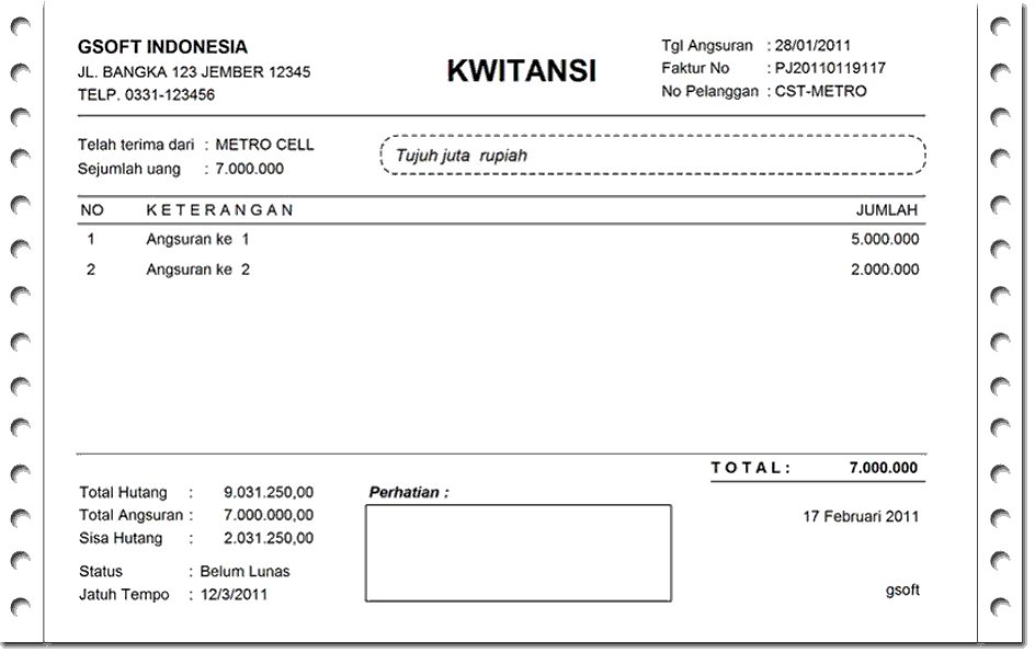 Contoh Invoice Excel Feed News Indonesia
