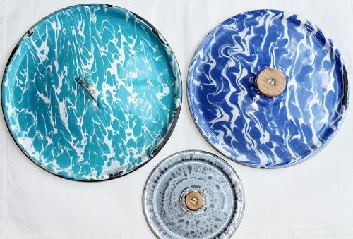 vintage enamelware lids