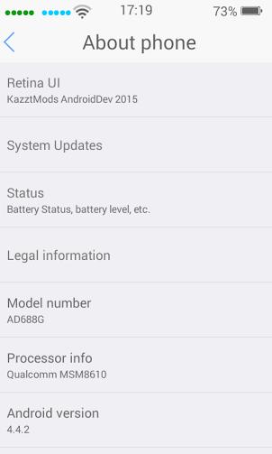 Custom ROM Andromax G2 - Retina iOS7
