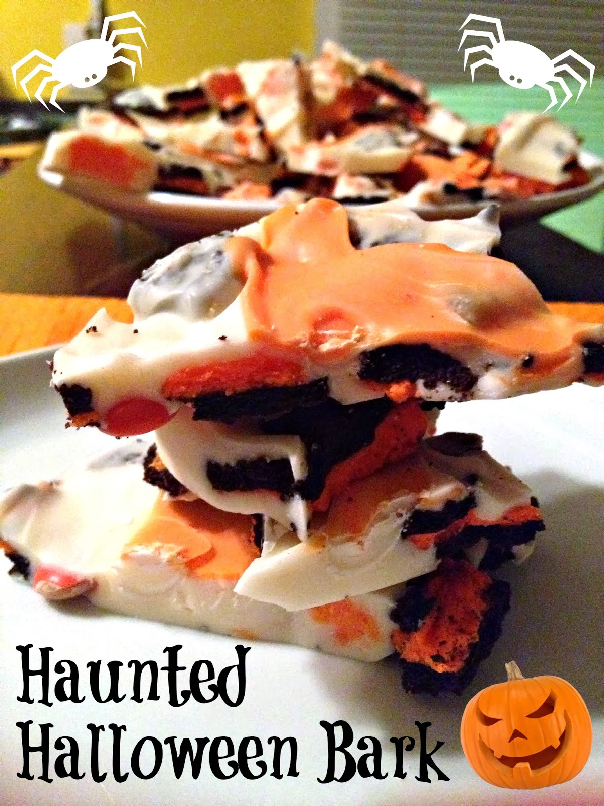 Haunted Halloween Dessert Bark
