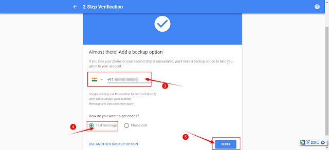 gmail 2 setp verification