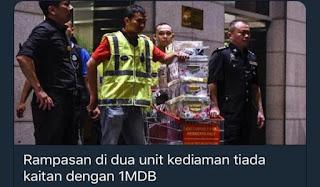 Rampasan di dua unit kediaman tiada kaitan dengan 1MDB