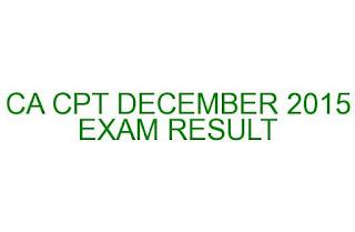 CA COMMON PROFICIENCY TEST DECEMBER 2015 EXAM RESULT
