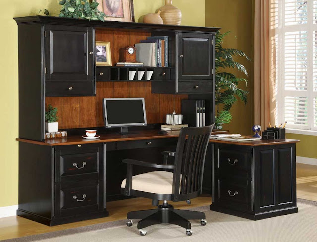 best buy wood orbit black home office computer desk with hutch for sale