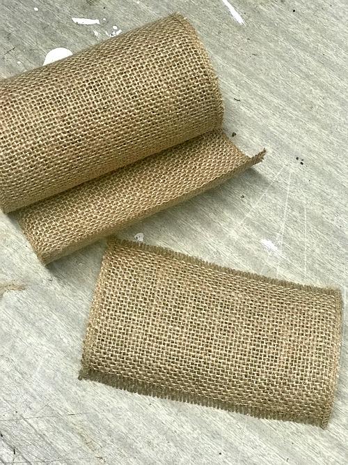 rolls of burlap