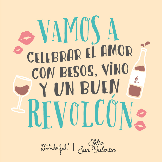 Descargable San Valentín Mr Wonderful Vamos a celebrar el amor con besos