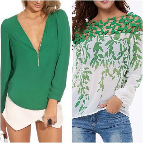 Blusas e t-shirts estilosas para o outono