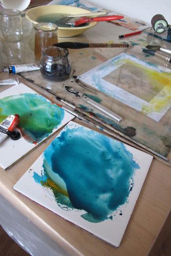 Aquarelle en cours Nathalie Le Reste