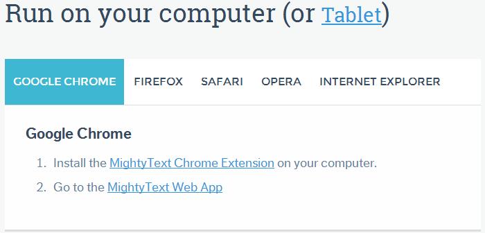 免費發簡訊 APP:MightyText APK Download,從電腦發簡訊到手機的軟體,Android APP