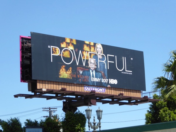 Wizard of Lies Powerful Emmy FYC billboard