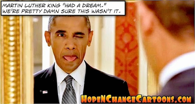 obama, obama jokes, political, humor, cartoon, conservative, hope n' change, hope and change, stilton jarlsberg, racism, trump, hillary, police, town hall