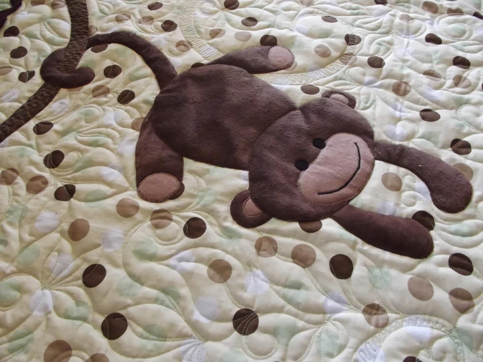 Done!!! Monkey baby quilt : monkey baby quilt pattern - Adamdwight.com
