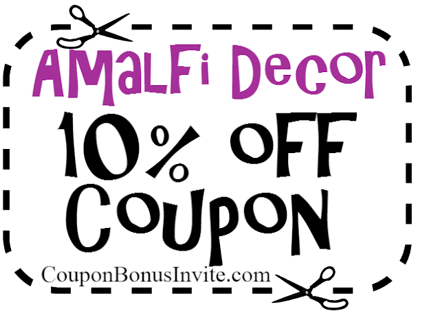 Amalfi Decor Coupon April, Amalfi Decor Coupon May, Amalfi Decor Promo Code June