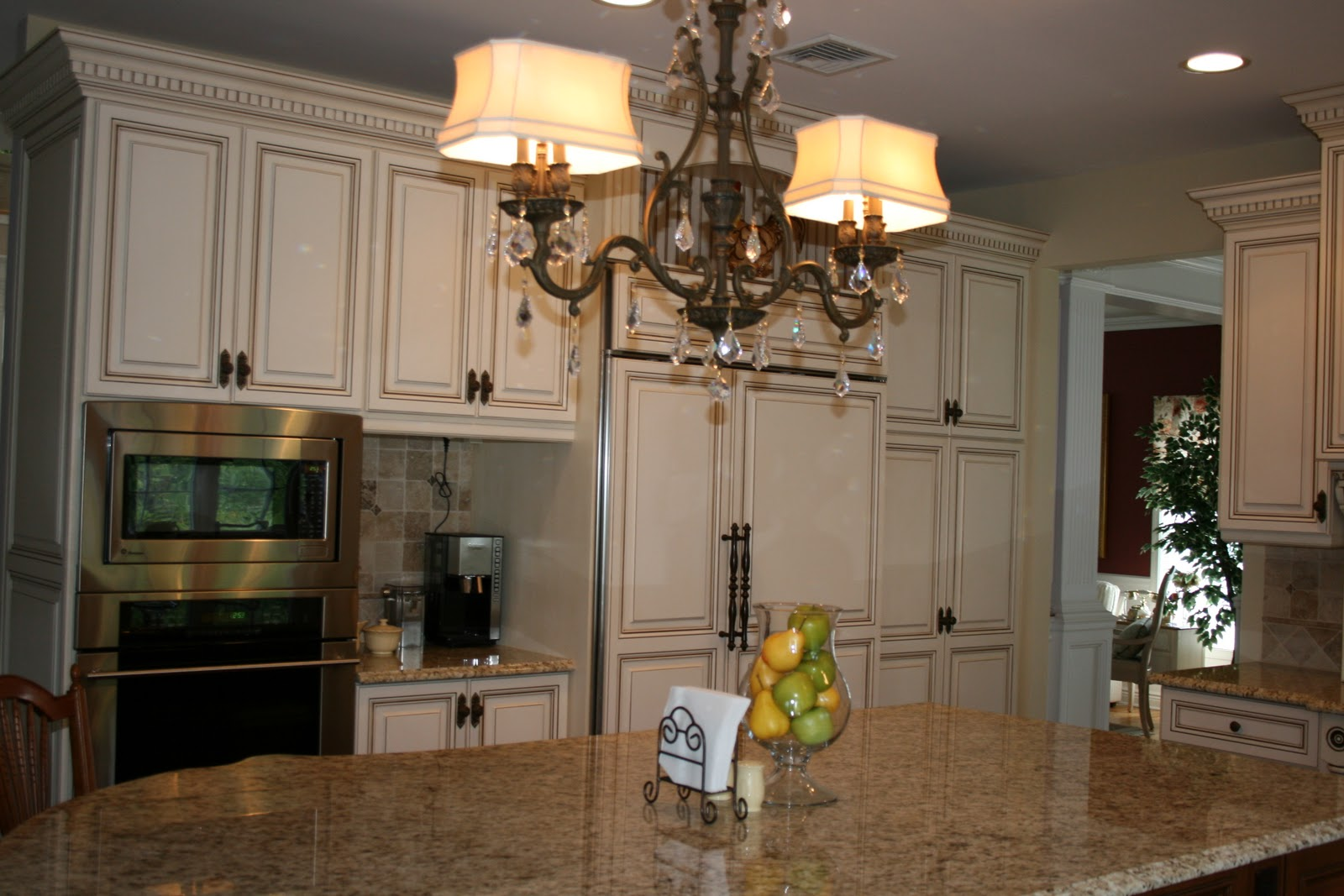 Kitchen Cabinets Desk Area